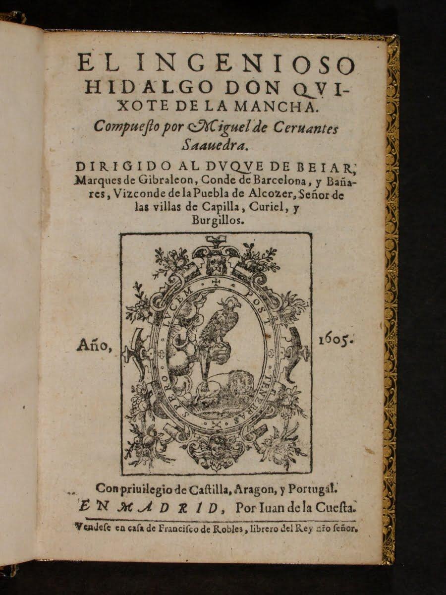 Bu görsel boş bir alt niteliğe sahip; dosya adı Cervantas-El-ingenioso-Hidalgo-don-Quijote-de-la-Mancha-1605-Tome-I-900x1200.jpg
