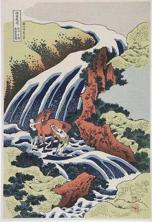 Bu görsel boş bir alt niteliğe sahip; dosya adı 512px-Katsushika_Hokusai_1760-1849_In_de_Paarden-was_waterval_1835-1.jpg